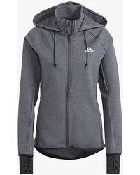adidas Designed To Move Full Zip Training Hoodie - Grey