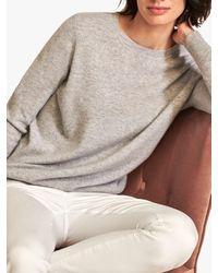 Pure Collection Cashmere Boyfriend Jumper - Multicolour