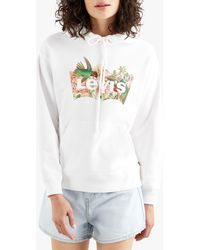 Levi's Standard Floral Graphic Hoodie - White