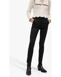 Mango Cropped Skinny Trousers - Black