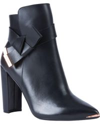 Ted Baker - Remadi High Block Heel Ankle Boots - Lyst