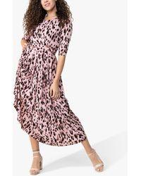 Jolie Moi Pauline Animal Print Maxi Dress - Pink