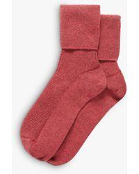 Brora Cashmere Socks - Red