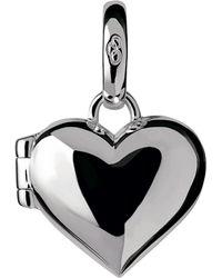 Links of London Sterling Silver Heart Locket Charm - Metallic