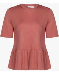 Finery London Myrna Peplum Top - Pink