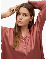 Mango Satin Pyjama Shirt - Multicolour