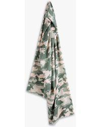 Hush Imogen Camo Print Organic Cotton Scarf - Green