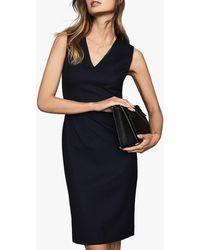 Reiss - Hartley V-neck Tailored Dress - Lyst