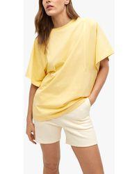 Mango Oversized Organic Cotton T-shirt - Yellow