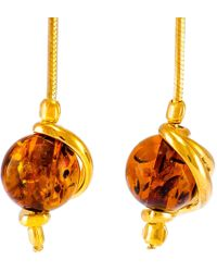 John Lewis - Be-jewelled Amber Snake Chain Drop Earrings - Lyst