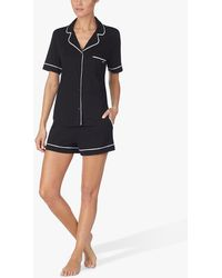 DKNY Signature Boxer Shorts Pyjama Set - Black