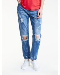 Maison Scotch - Ripped Boyfriend Jeans - Lyst