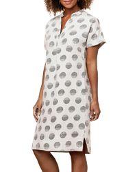 East - Linen Organic Spot Shift Dress - Lyst