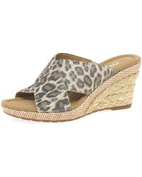 John Lewis - Gabor Purpose Wide Fit Wedge Heeled Sandals - Lyst