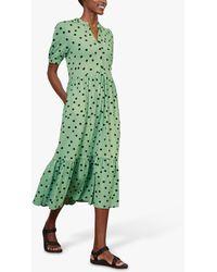 Baukjen Linde Polka Print Dress - Green