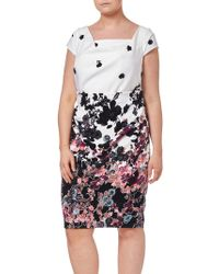 Adrianna Papell - Floral Bliss Dress - Lyst