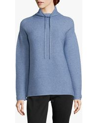 Betty Barclay Ribbed Funnel Neck Jumper - Blue