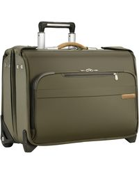 Briggs & Riley Baseline Carry-on Wheeled Garment Bag - Green