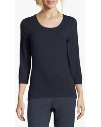 Betty Barclay Betty & Co. Three Quarter Sleeved T-shirt - Blue
