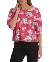 Betty & Co. - Floral Print Top - Lyst