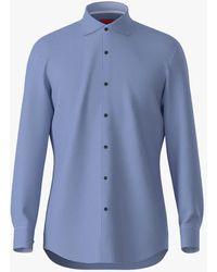 BOSS by Hugo Boss Hugo By Kery Check Slim Fit Shirt - Blue