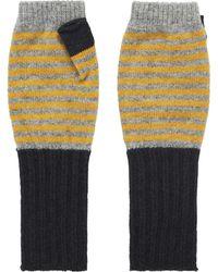 Brora - Cashmere Long Stripy Wristwarmer - Lyst