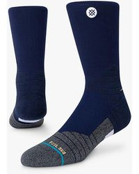 Stance Icon Hoops Crew Basketball Socks - Blue