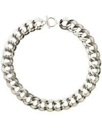 Monet - Double Chain Necklace - Lyst