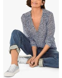 Hush Agnes Straight Fit Denim Jeans - Blue