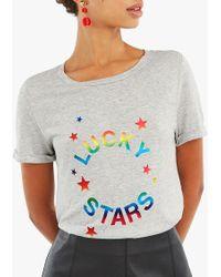 Oasis - Lucky Star Foil T-shirt - Lyst