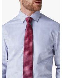 Jaeger Cotton Stripe Regular Fit Shirt - Blue