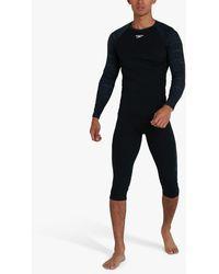 Speedo Essential Long Sleeve Rash Top - Black