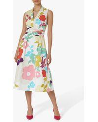 Hobbs Marie Floral Midi Dress - White