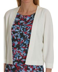 Betty & Co. Textured Knit Cardigan - White
