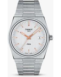 Tissot Prx Date Bracelet Strap Watch - Metallic