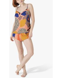 Maison Lejaby Printed Pyjama Camisole Top - Multicolour