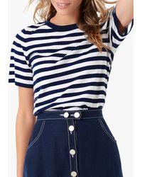 Brora Nautical Stripe Tee - Blue