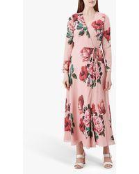 Hobbs Emery Silk Dress - Pink