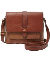 Fossil - Kinley Small Leather Crossbody - Lyst