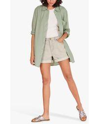 Hush Leonie Cotton Over Shirt - Green