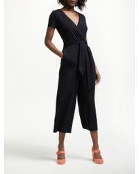 Boden - Ellen Wrap Over Tie Waist Jumpsuit - Lyst