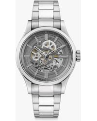 Ingersoll 1892 I06804b The Armstrong Automatic Skeleton Bracelet Strap Watch - Metallic