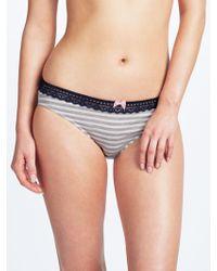 John Lewis - Elle Stripe Bikini Briefs - Lyst