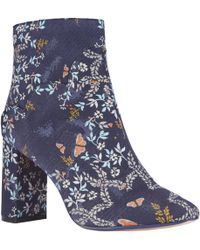 Ted Baker - Ishbel Block Heeled Floral Ankle Boot - Lyst