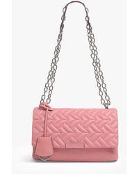 Radley Mill Bay Geo Leather Cross Body Bag - Pink