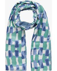 Brora - Silk Wool Scarf - Lyst
