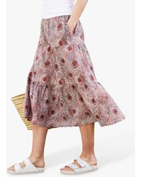 Baukjen Felice Batik Print Organic Cotton Skirt - Multicolour