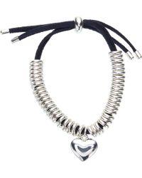 John Lewis - Heart Charm Bracelet - Lyst
