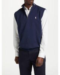 Ralph Lauren - Polo Golf By Half Zip Vest - Lyst