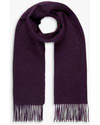 Brora Cashmere Scarf - Purple